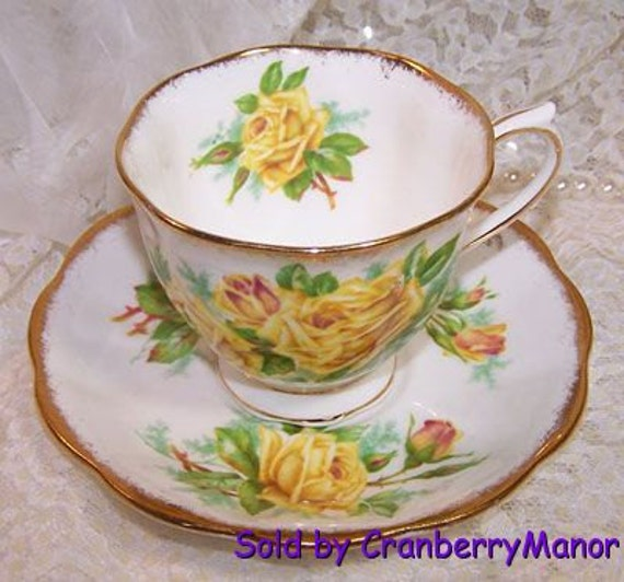 Vintage Royal Albert Yellow Tea Rose Cup and Saucer
