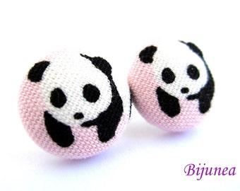 Panda earrings - Panda stud earrings - Panda studs - Panda post earrings - Panda posts sf1037