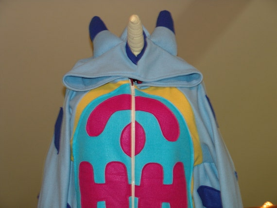 Blue Digi Monster fleece HOODIE