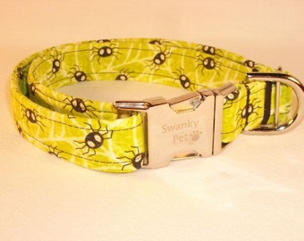 Fun Halloween Spider Jeepers Creepers Dog Collar by Swanky Pet!