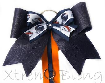 Cheer Bow Holder/ Hair Bow Holder Denver Broncos