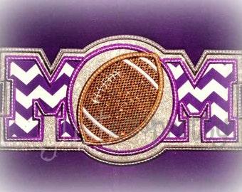 Football Mom Embroidery Applique Design
