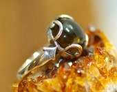 Earth, Natural Smoky Quartz Ring by LindaGeez