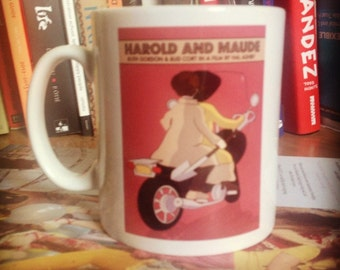 Harold and Maude illustrated mug