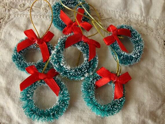 Mini bottle brush trees 1 1 4 christmas craft supplies for Vintage christmas craft supplies