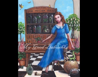 Saint Anastasia Original Painting, Fairy Tale Art, Folk Tale Art, Storybook Art, Medicines, Potions, Apothecary, Poisons, Good Luck