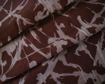 Vintage silk Japanese kimono fabric (dark red)