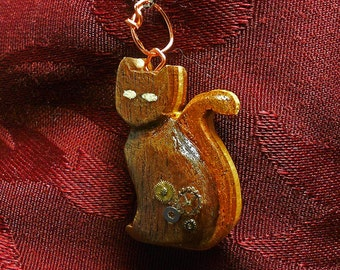 Clockwork Calico Pendant