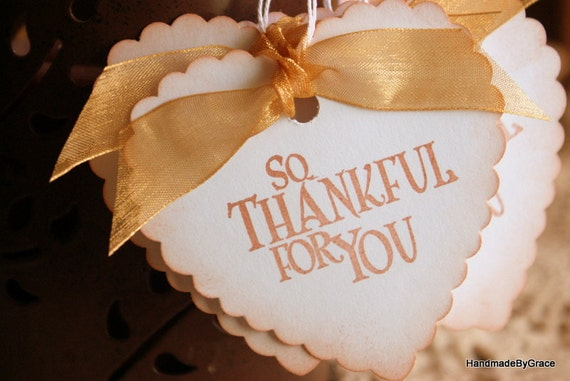 Wedding Heart Gift Tags : Vintage Style Heart Gift Tags Wedding Favor TagsSo Thankful