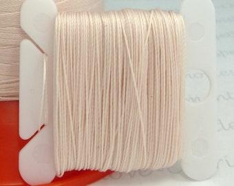 Shell Silk Like Beaders Secret Knotting Thread Beading Stringing Sewing 20 yards Polyester Card Bobbin Pink Peach