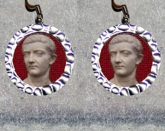 Roman Emperor TIBERIUS Earrings