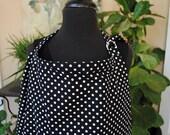 Nursing Cover Black and White Polka Dot