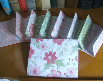 A2 Envelopes 8 Pink Green and White