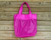 Ripstop Nylon Parachute Tote Bag Medium Fuchsia Slider