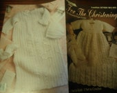 Crocheting and Knitting Patterns For the Christening Leisure Arts 2720 Crochet and Knit Pattern Leaflet