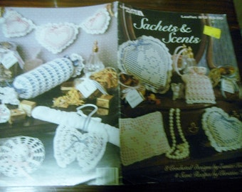 Thread Crochet Sachets and Scents Leisure Arts 813 Crocheting Patterns Leaflet