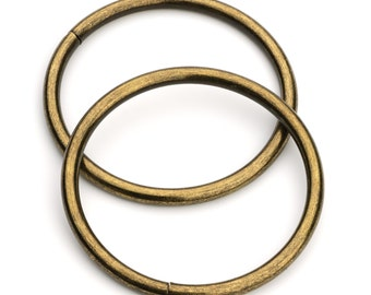 """30pcs - 2"""" Metal O Rings Non Welded Antique Brass - Free Shipping (O-RING ORG-134)"""