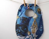 Princess Leia Baby Gift - Star Wars Bib from Vintage Bed Sheets - Darth Vader, Luke Skywalker - Return of the Jedi - Empire Strikes Back