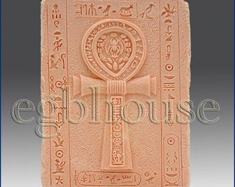 2D Silicone Soap/Polymer Clay/Cold Porcelain Clay/Plaster Mold- ANKH - free shipping - from original designer n maker