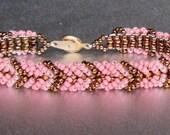 pink beaded friendship bracelet SALE