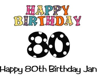 Birthday Water Bottle Labels 80th
