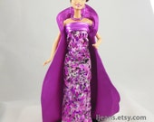 Barbie Evening Dress, Coat, Belt, Necklace, and Earrings