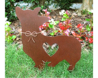 Corgi Dog Metal Garden Stake - Metal Yard Art - Metal Garden Art - Pet Memorial - 2