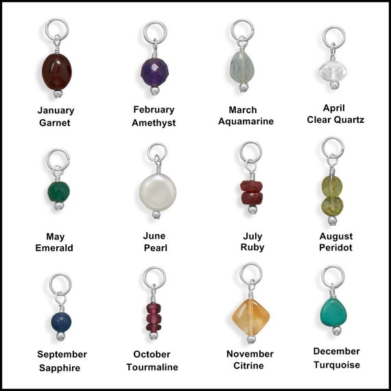 Assorted Birthstone Charms by jewelrymandave on Etsy