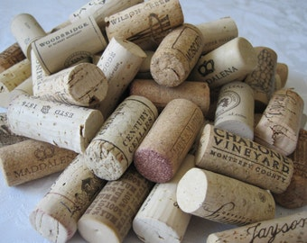 50 Wine Corks, Used Corks, All Natural Recycled Wine Corks, 100% Natural Corks