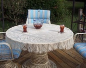 Apple Blossom Knit Lace Tablecloth