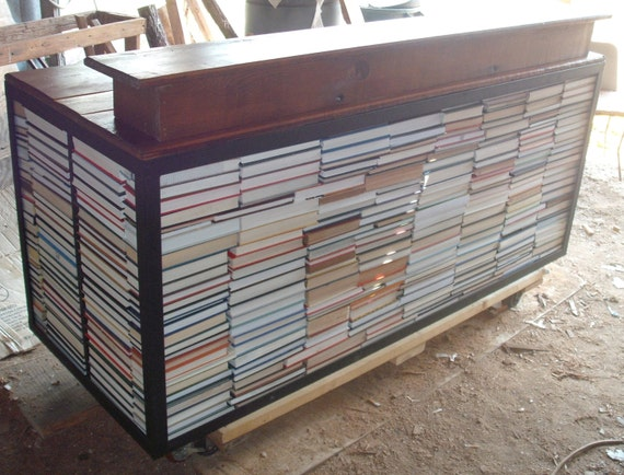 Book wrapped reception & office desks