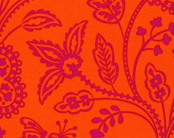 SALE Pillow and Maxfield Collection - Garden Floral Tonal in Orange