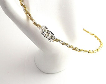 Made To Order - The Tucker Twist Sterling Silver &14kt gold fill slave collar