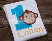Tropical Fizz Mod Monkey Birthday Shirt