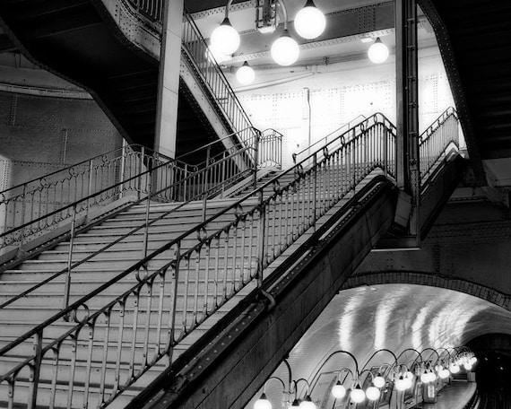 Paris Noir #14, Black and White Photography, Paris Photography, Noir Wall Art, Metro Paris Decor