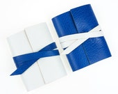 Leather Mini Journal: Sapphire Blue Jewel Baby Shower Favor, Wedding favour, Stocking Filler, Party Bag gift small notebook boy bright blue