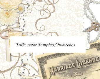 Wedding Bridal Veil Illusion Tulle Color Samples  Swatches