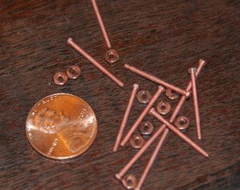 Micro Copper Screws and Nuts