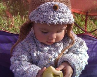 Olivia Grace Nolan Collection BabyIrish Fisherman or Aran pullover sweater Celtic Blues
