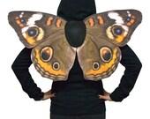 Realistic Buckeye Butterfly Costume Wings, Junonia Coenia, Common Buckeye