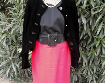 Vintage 60s Pencil Skirt, Red Wool Pendleton Skirt, Secretary Skirt, Business Skirt, Gold Label Pencil Skirt, Size 13/14