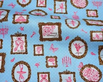Japanese fabric Ballerina print (n421b)