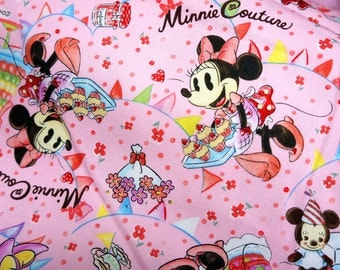 Disney Cartoon  Minnie Couture   Print Japanese fabric one yard