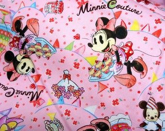 Disney Cartoon  Minnie Couture   Print Japanese fabric Half meter