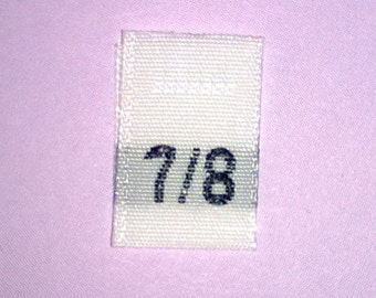Size 7/8 (Seven-Eight) Woven Clothing Size Tags (Package of 500)