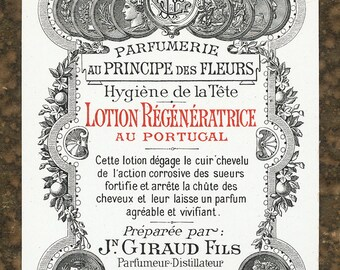 Antique Vintage French Apothecary Perfume Label 31