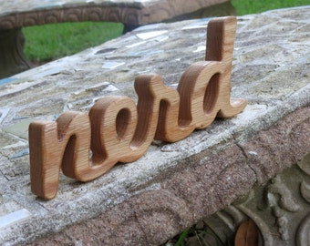 wood nerd sign shelf sitter word art