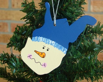 West Virginia Snowman ornament