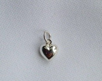 Sterling Silver Heart charm/ ADD on to any I HearThis design
