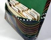 Waterproof Coupon Organizer Holder Rainbow Dots - Green Lining
